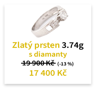 Zlatý prsten 3.74g s diamanty