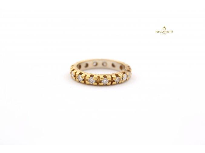 Zlatý prsten s diamanty 4.16g