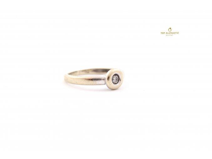 Zlatý prsten s diamantem 2.32g