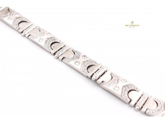 Zlatý náramek s diamanty 63.34g
