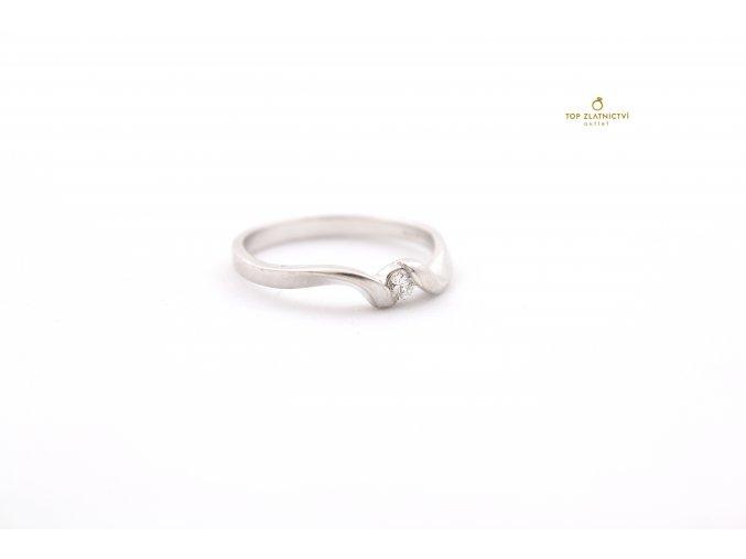 Zlatý prsten s diamantem 2.05g