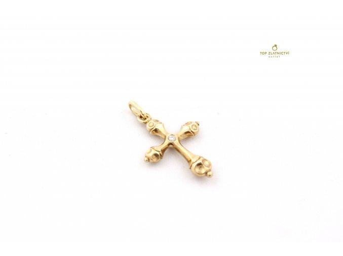 Zlatý přívěsek s diamantem 4.56g