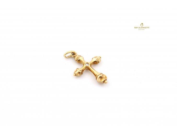 Zlatý přívěsek s diamantem 4.45g
