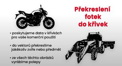 Moto, traktor vektory