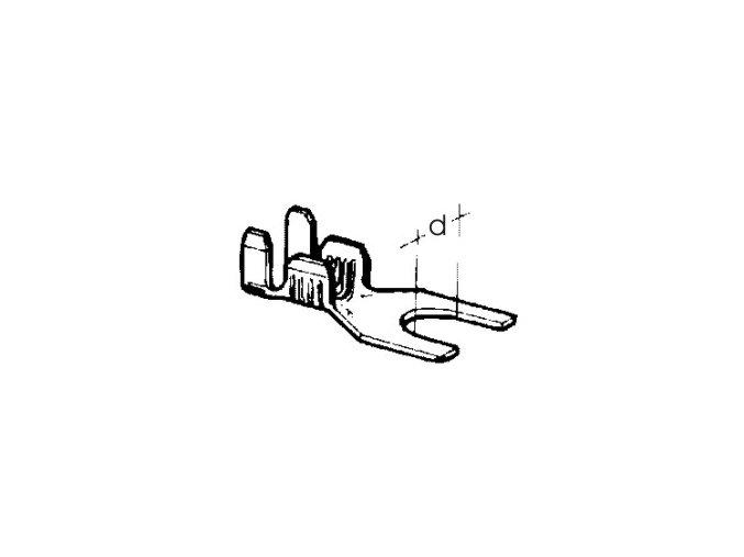 kabelové oko vidlicové 4,2 x 0,75 - 2,5
