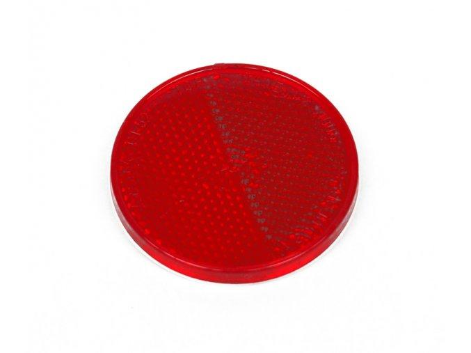 odrazka 60mm, samolepící, červená