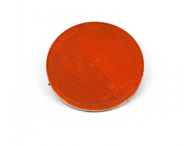 odrazka 80mm, samolepící, oranžová