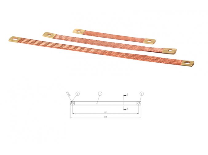 uzemňovací pásek 350mm/20mm2/10mm