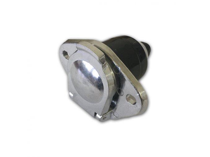 24V 7-pólová zásuvka, šroubovací normal., kovová