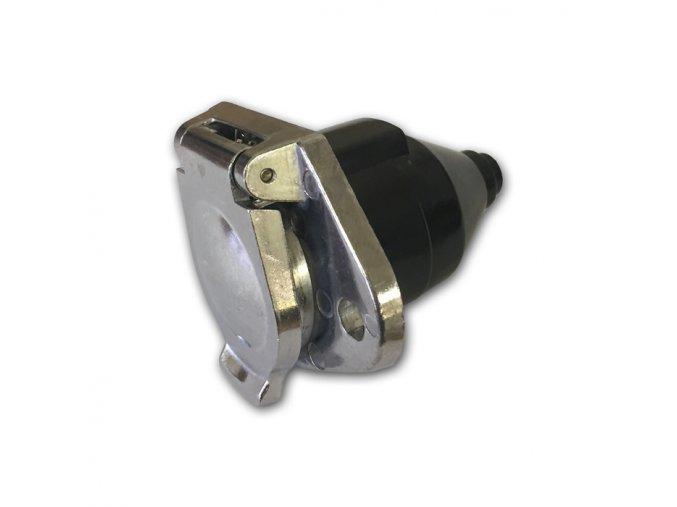 24V 7-pólová zásuvka, šroubovací doplň., kovová