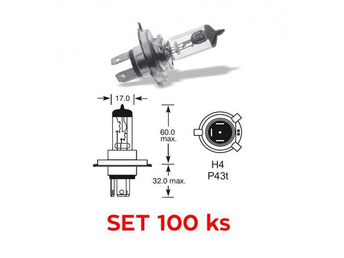 12V H4 60-55W P43t, Elta - set 100 ks