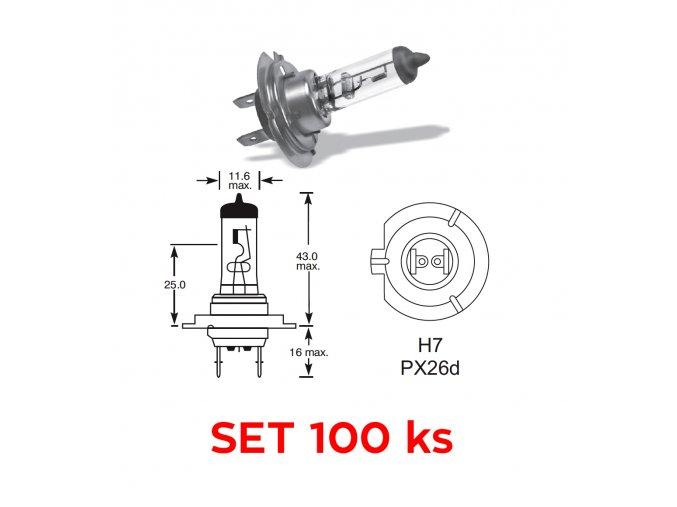 12V H7 55W PX26d - set 100 ks