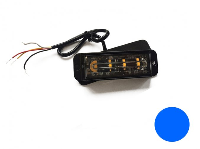 strobo maják - predátor 12/24V Elta, 4x LED, modrý