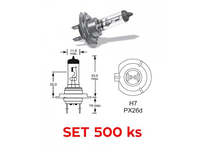 12V H7 55W PX26d Elta - set 500 ks