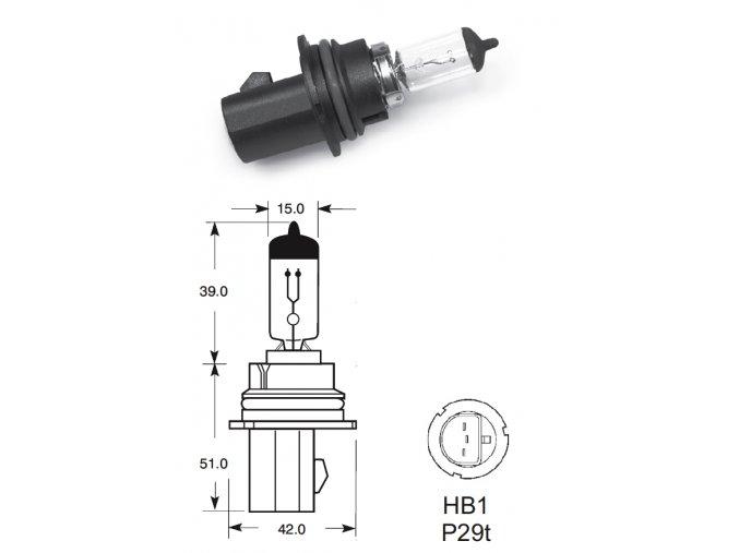 12V HB1 65-45W P29t, Elta