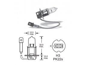 12V H3 55W Pk22s