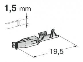 objímka speciální 1,5 x 0,5 - 1