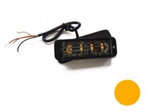 strobo maják - Predátor, 4x LED, oranžový