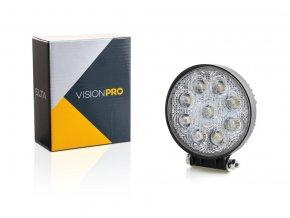 pracovní světlo 9x LED kulaté, pevné uchycení, Elta