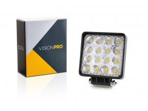 pracovní světlo 16x LED, 10-30V,  pevné uchycení