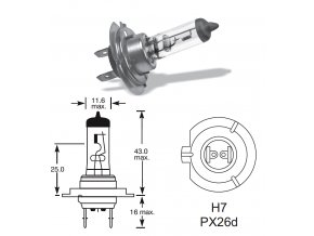 12V H7 55W PX26d