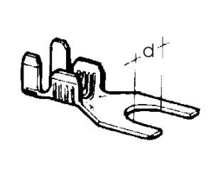 kabelové oko vidlicové 5,2 x 0,75 - 2,5