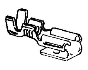 objímka plochá, s kolíkem 6,3 x 0,8 - 2,5