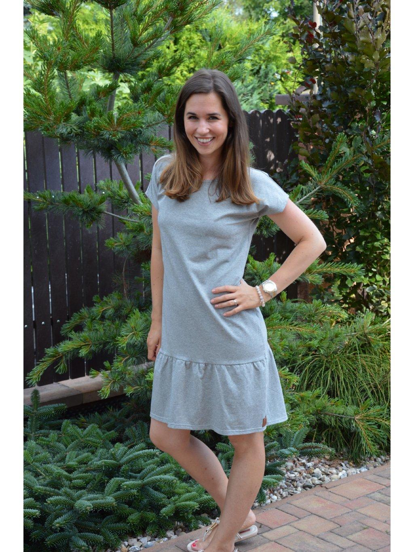 Šaty ELEONORA šedá melé