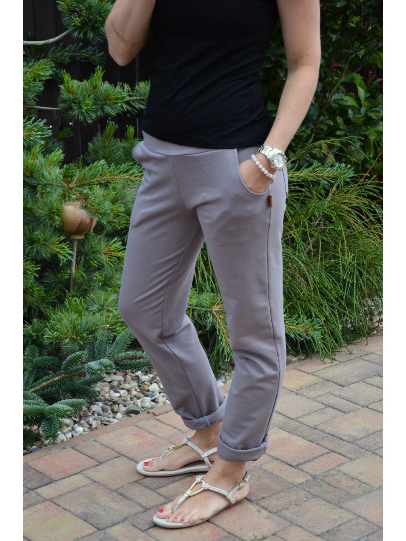 Kalhoty BELLA šedá