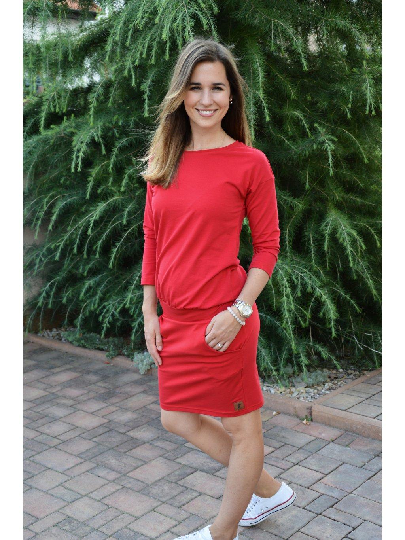 Šaty DANIELA 3/4 rukáv - více barev!!!