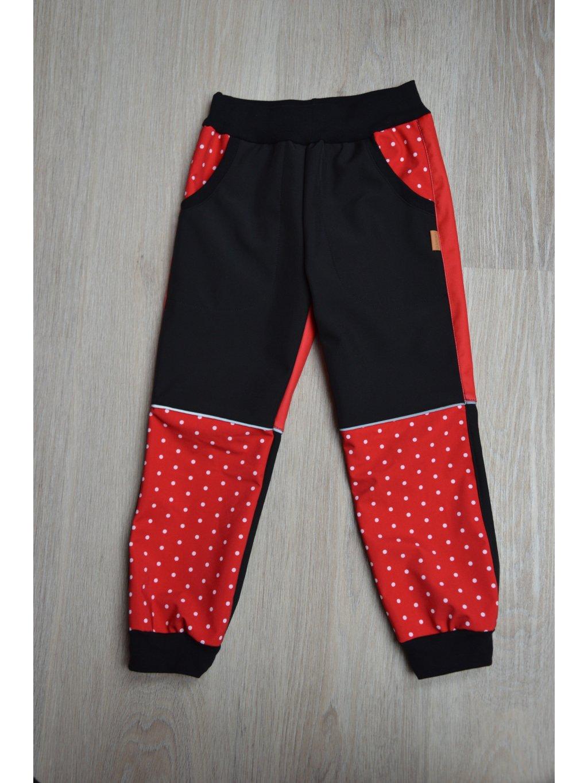 Soft kalhoty červená 110