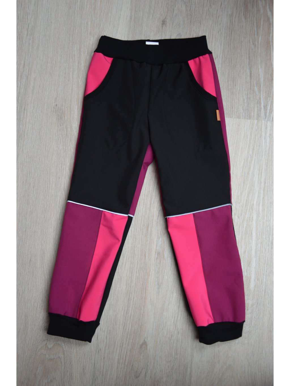 Soft kalhoty vínovo-růžové 110