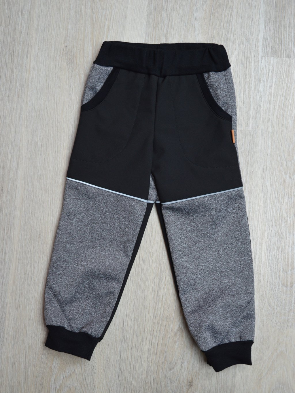 Soft kalhoty  šedá melé 98