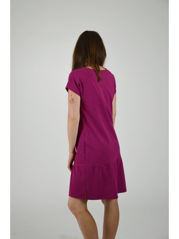 Šaty ELEONORA Vínové