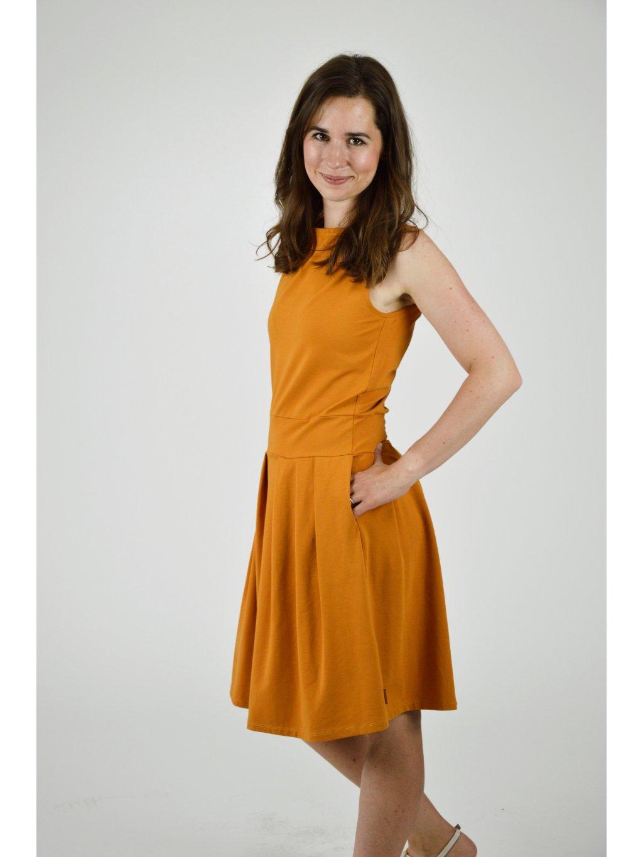 Šaty ELI okrová
