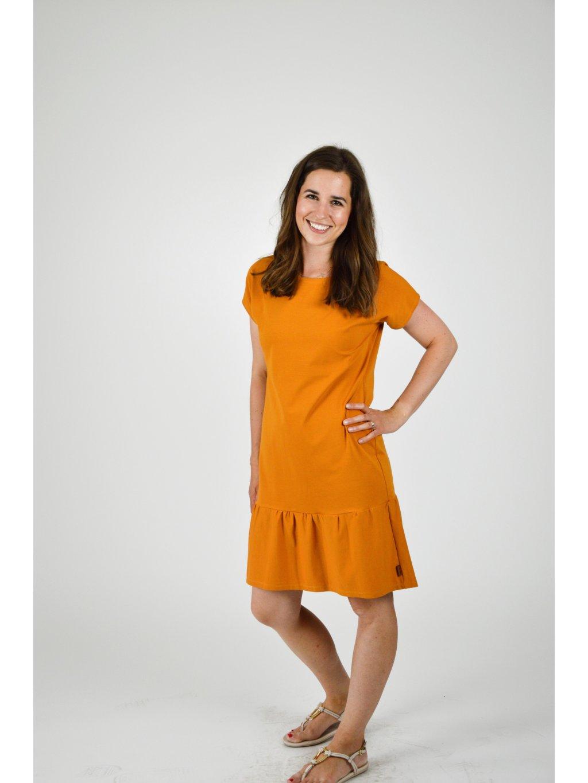 Šaty ELEONORA Okrová