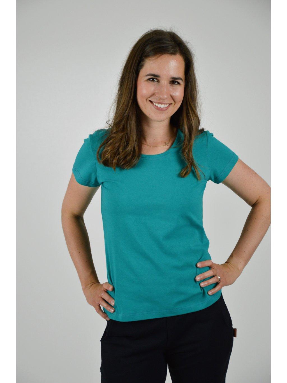 Tričko BASIC smaragdová KR