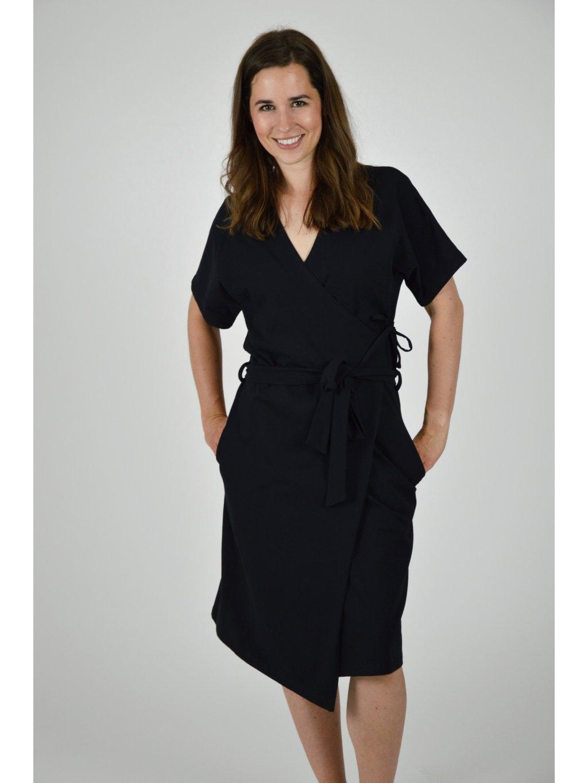 Šaty EMILY zavinovací černé