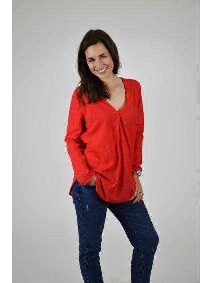 Košile IVA Bílá červená