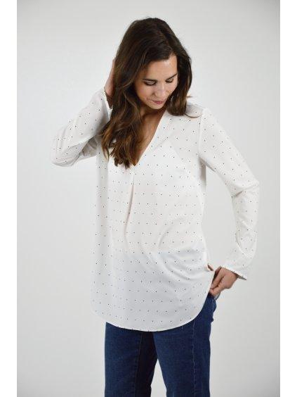 Košile IVA Bílá puntík