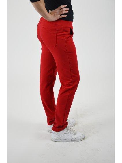 Kalhoty BELLA červená