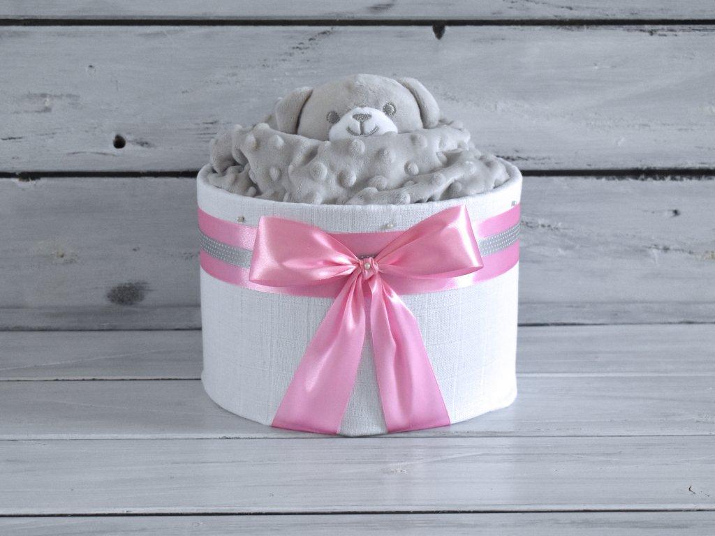 Mini plienková torta s uspávacím medvedíkom