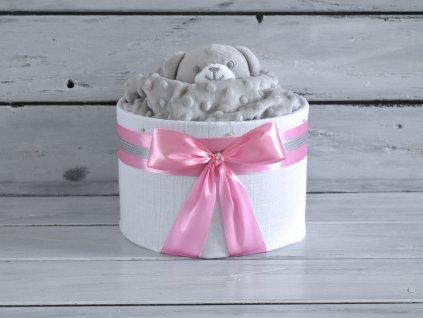Mini plienková torta s uspávacím medvedíkom 1