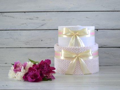 Dvojposchodová plienková tortaNEtorta I. (Barva Ružova)