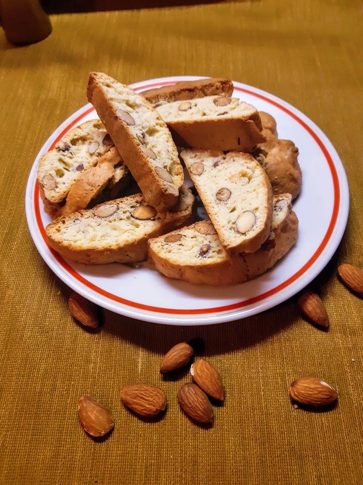 Cantuccini alle Mandorle - mandlové sušenky k vínu