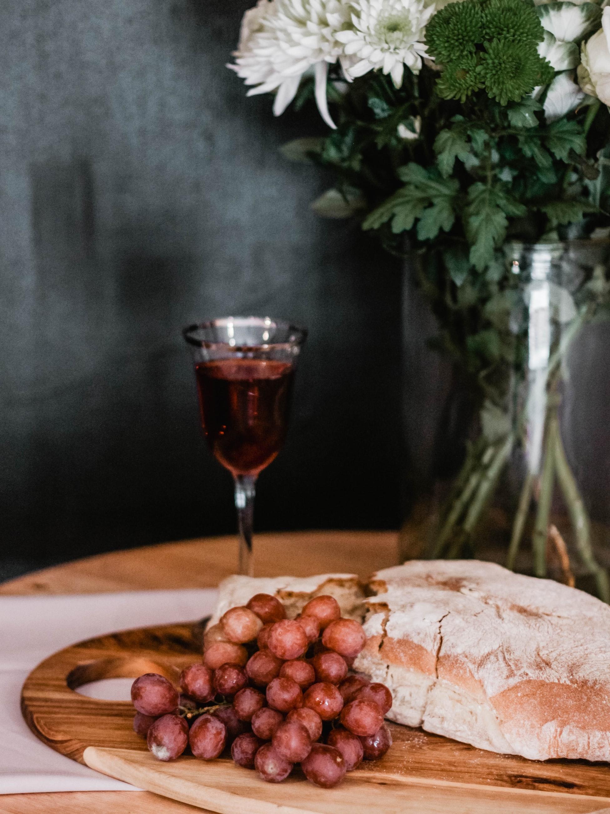 Merendina toscana - pane, vino e zucchero