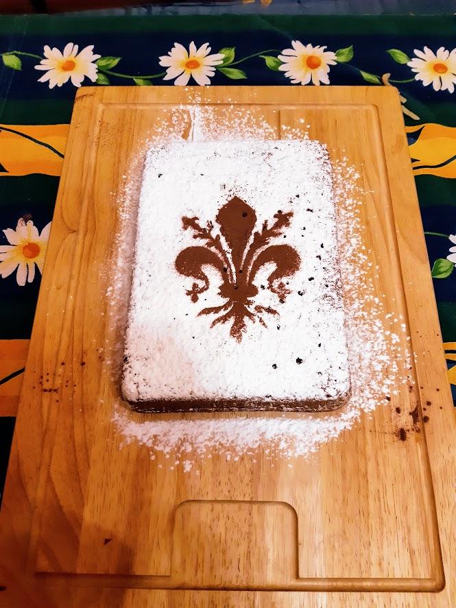 Schiacciata alla fiorentina - tradiční florentský moučník