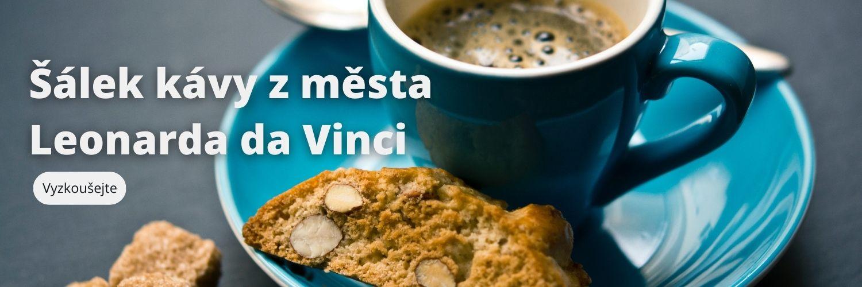 Šálek kávy z města Leonarda da Vinci