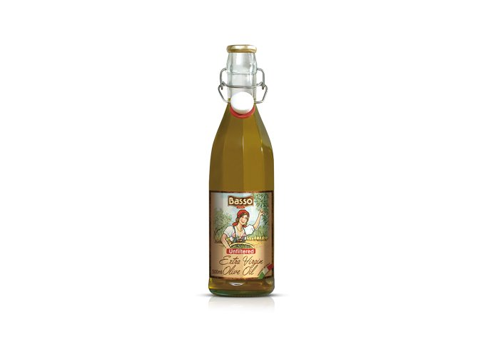 Panenský olivový olej nefiltrovaný Basso 500ml