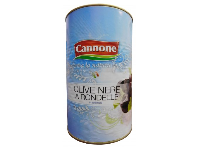 Olivy čierne krájané Cannone 4,1kg